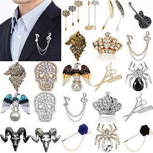 NT-Unisex-Men-Elegant-New-Brooch-Pins-Sets-Collar-Suit-Stick-Breastpin-Lapel-Pin