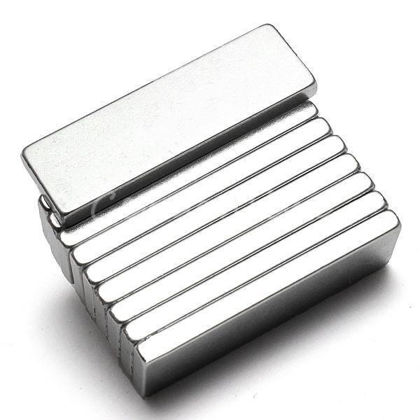 5Pcs N52 Super Strong NeFeB Neodymium Block Fridge Magnets 25mm x 8mm x 2mm