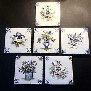 6 Carreaux Céramique Decor Au Chinois Marque Au Petit Coq Fourmaintraux Desvres vhE6C2qB-09093016-954555455