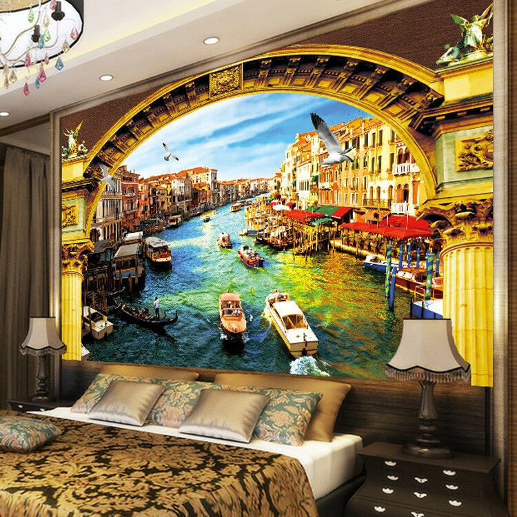 3D Mode Wasserstadt 83 Tapete Wandgemälde Tapete Tapeten Bild Familie DE