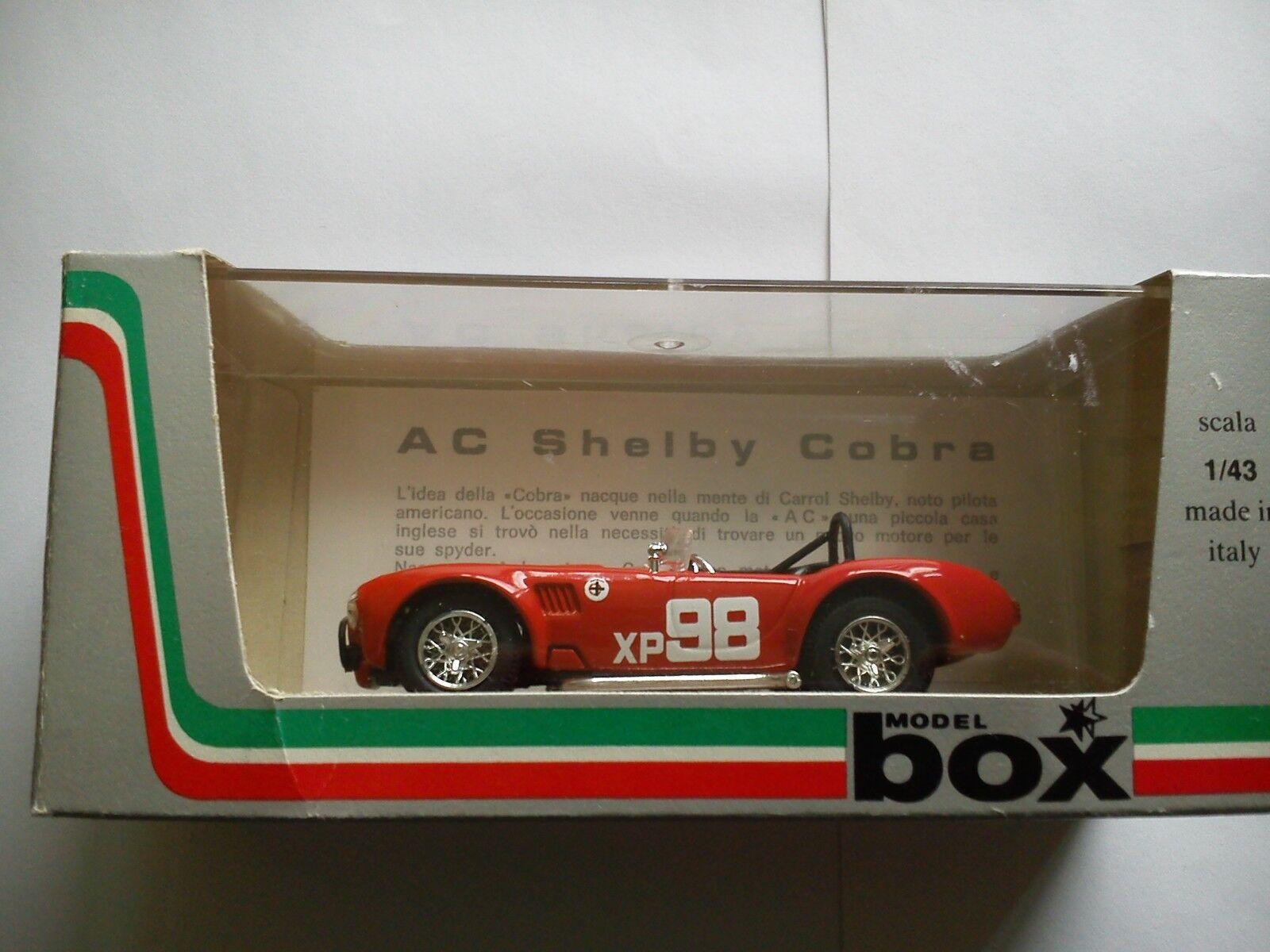 BOX 1 43 AC SHELBY COBRA  XP 98 RIVERSAIDE 1962