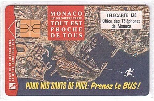Monaco MF27a Used//Usagée SN B2C0Q0006 Prenez le Bus Chip Phonecard