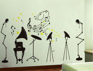Details About Crazy Music Rock Home Room Decor Removable Wall Stickers Decal Decoration