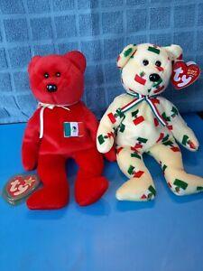 2 Beanie Babies; Pinata 03, Osito 99