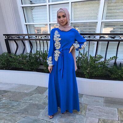 Eid Mubarak Abaya Dubai Turkey Muslim Fashion Women Hijab Dress Islam Caftan Ebay