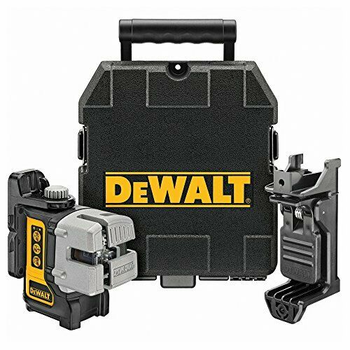 Black//Yellow DEWALT DW089K-XJ 3 Way Self Levelling Multi Line Laser Red