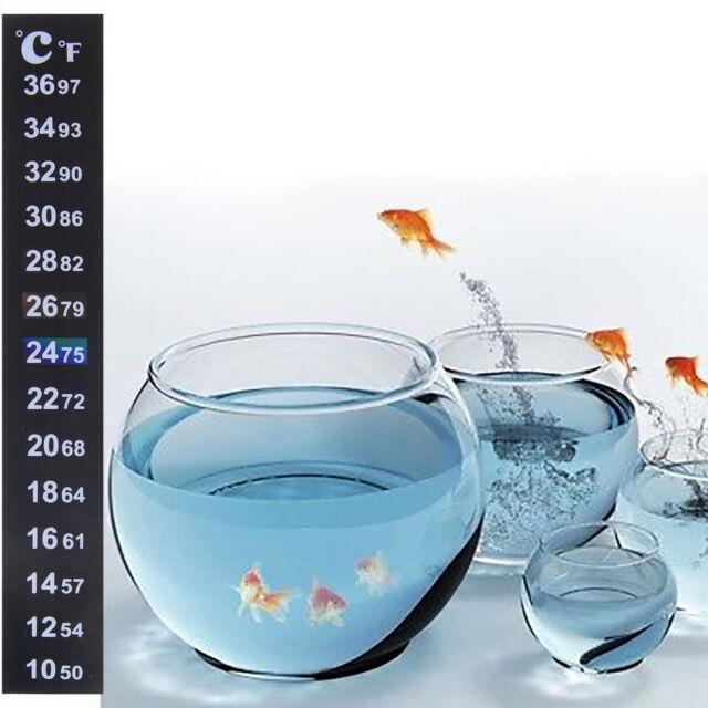 Digital Dual Scale Aquarium Fish Tank Thermometer Temperature Sticker BDDD