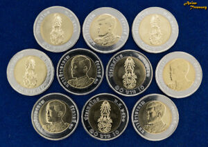 Thailand Thailand 10 Baht 2002 Irrigation Department Bimetal King Bhumibol Unc
