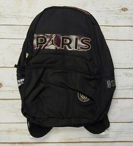 NIKE Air Jordan PSG Paris Saint Germain Backpack Black Purple Gold - New/NoTag