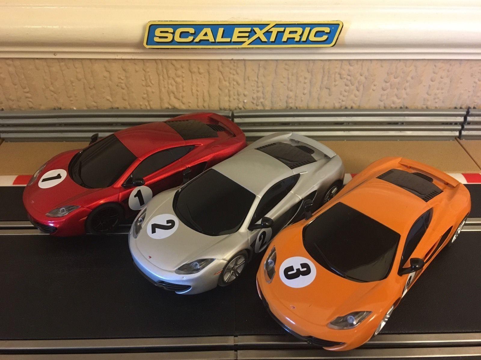 Skalextric Triple Pack Mclaren MP4- 12c  Alla bilar DPR   Brand ny
