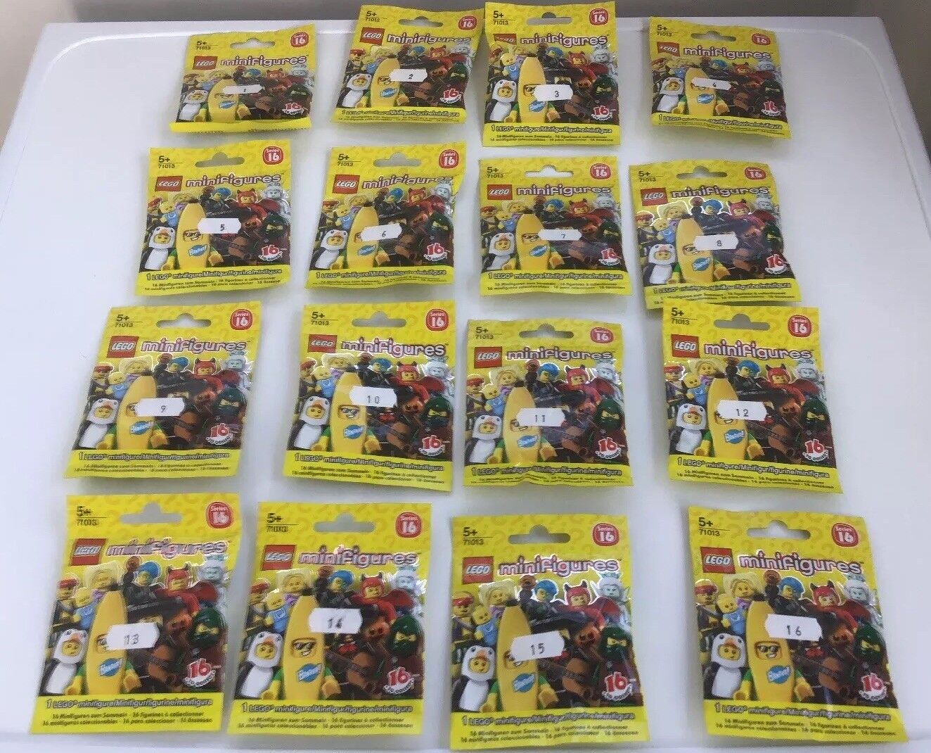 Lego Minifigures Series 16 Set 71013 Complete 16 Minifigs From 2016 Brand New
