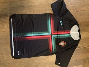 NIKE-Portugal-Squad-Training-Soccer-Futbol-Jersey-World-Cup-2018-Black-S