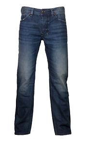 Diesel-Straight-Cut-Jeans-LARKEE-0857H-dunkelblau-verwaschen-31-30-NEU