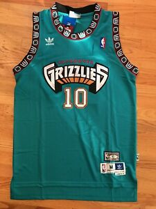 Mike-Bibby-10-Hardwood-Throwbacks-Vancouver-Grizzlies-Teal-Men-039-s-Jersey