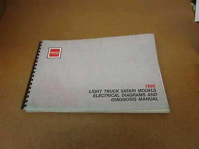 1990 Gmc Safari Van Minivan Electrical Wiring Diagram Shop Service Manual Ebay