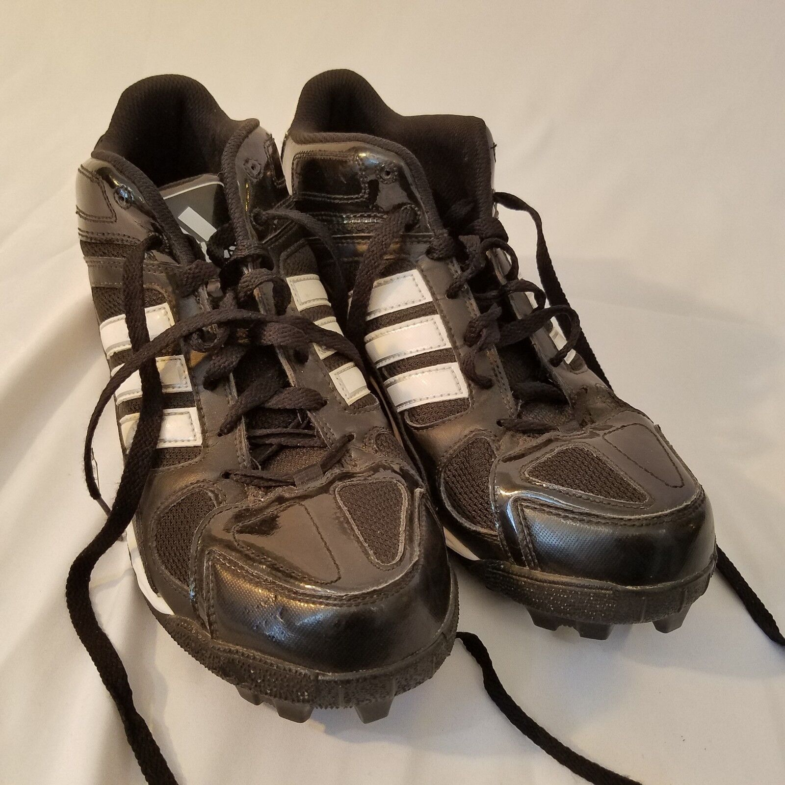 on sale f2eb9 8ac5e Adidas Mens Football Cleats Shoes Athletic CRAZY QUICK Black 3 Stripe Size  10.5 212b60