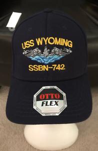 Details about USS WYOMING SSBN - 742 Flexfit Submarine Navy Stitched  Officer Hat /Cap L/XL NEW