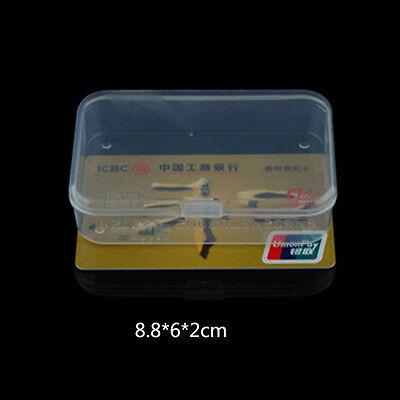 2pcs MIni Plastic Transparent With Lid Collection Container Case Storage Boxes