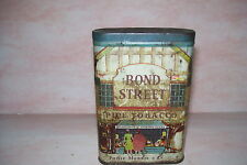 "Vintage Bond Street Pipe Tobacco Tin Can Philip MorrisCo.New York London ""Rustic"