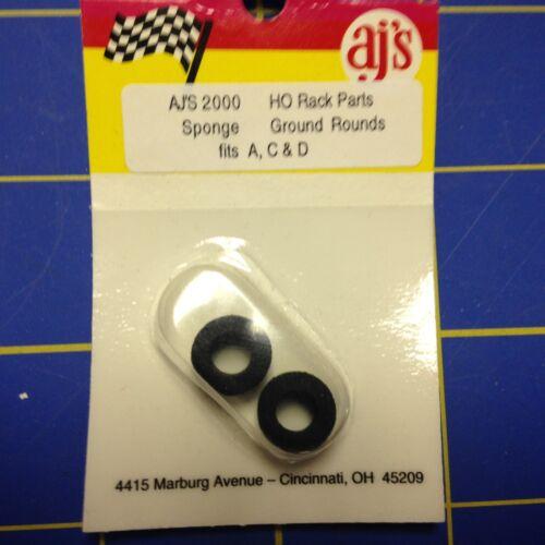 AJ/'S 2000 Sponge Black Tires Tyco 440 440X2 Marchon MR-1 Lifelike Rokar