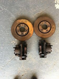 CHRYSLER GRAND VOYAGER 2001-2007 FRONT BRAKE DISCS PADS  WITH ABS