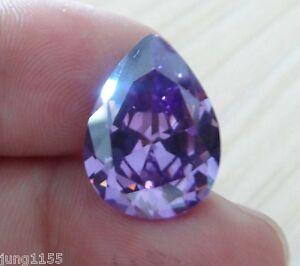 13x18mm-18-12ct-Pear-Shape-Faceted-Cut-VVS-Loose-Gem-AAA-Natural-Purple-Amethyst