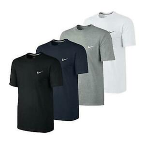 Nike-Swoosh-Mens-Classic-T-Shirt-Sports-Gym-Crew-Navy-Blue-White-Grey-Black-Tee