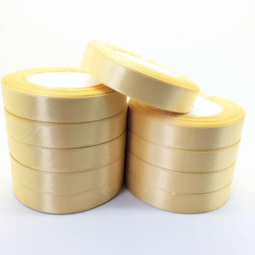 "New 5 Yards 1/""(25mm)Satin Ribbon Multi-Purposes Craft Wedding Party Pick Colors"
