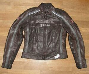 034-Probiker-034-Damen-Motorcycle-Combination-Leather-Jacket-Biker-Jacket-Black-034