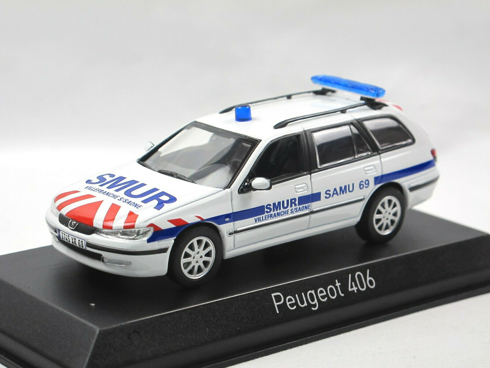 Norev 474654 - 200 Peugeot 406 Break - SMUR - weiß - Modellauto 1 43  | Economy