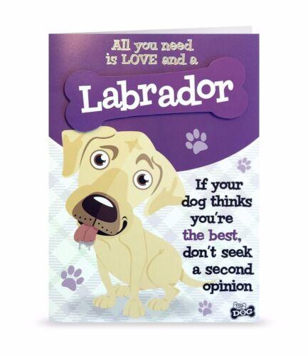 Cream Lab Labrador Dog Greeting Birthday Card