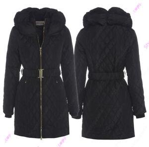 00new Größe 8 10 12 14 16 Damen Gepolsterter Mantel Jacke Gesteppt Schwarz Parka