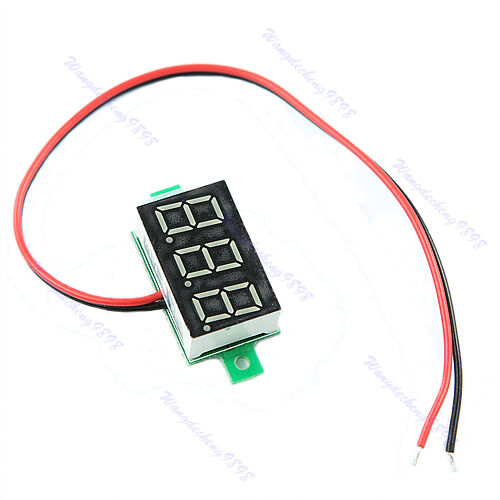 Mini LED DC2.5-30V Red Volt Voltage Meter Display Digital Voltmeter Self-Powered