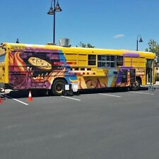Turnkey Diesel Bluebird Bus Pizza Food Truck With Wood Fired Oven For Sale In Cali