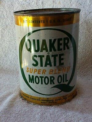 Vintage Quaker State Super Blend Oil 1 Quart Full