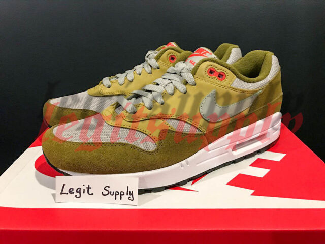 Nike Air Max 1 Premium Retro Green Curry Mens 908366 300 Size 9