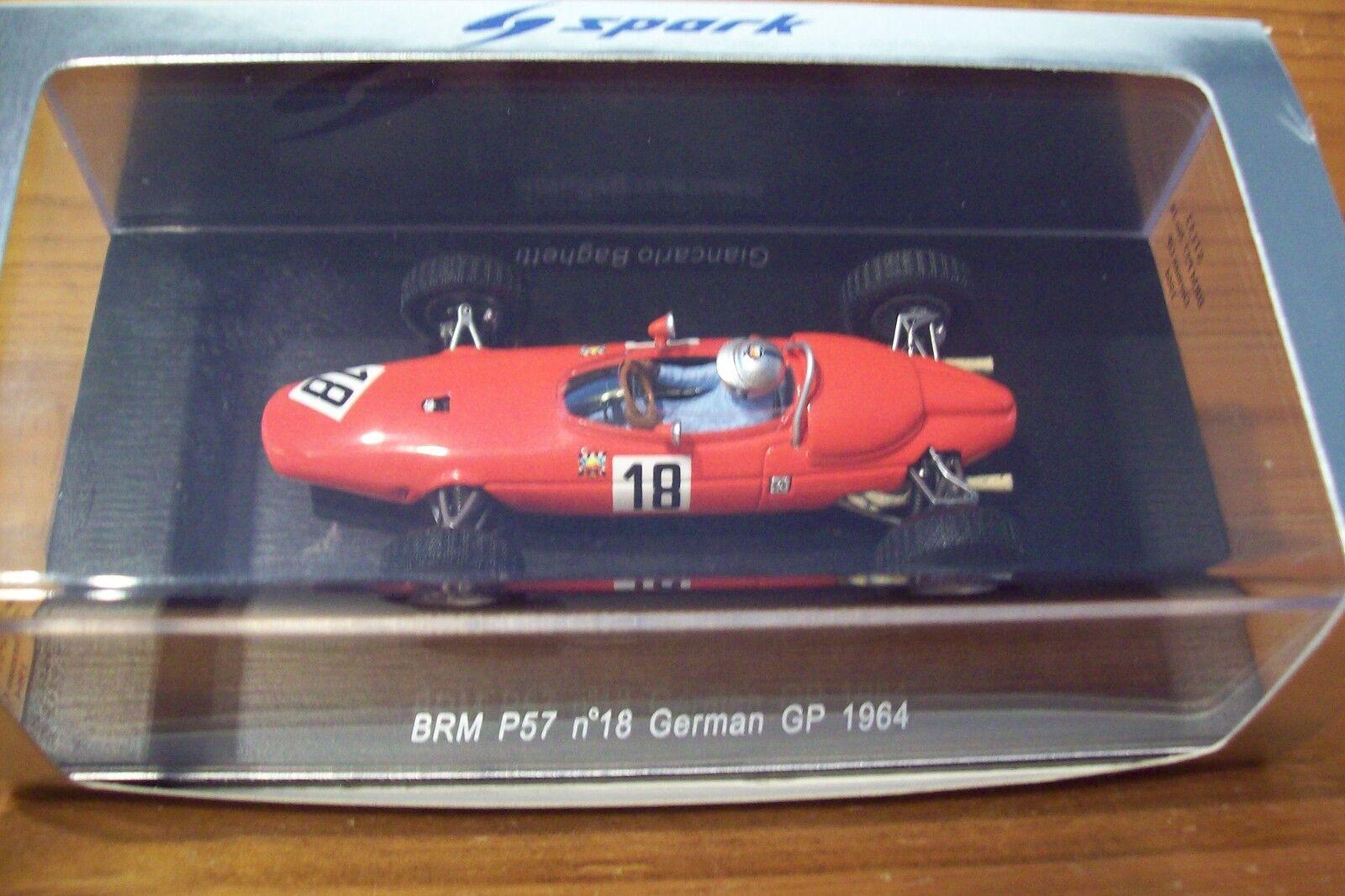 1 43 SPARK S1153 BRM P57 GIANCARLO BAGHETTI BAGHETTI BAGHETTI 1964 GERMAN GP 838d64