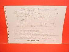 1973 MERCURY COUGAR XR-7 XR7 CONVERTIBLE COMET SEDAN FRAME DIMENSION CHART