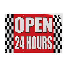 Decal Stickers Open 24 Hours Auto Body Shop Car Repair Vinyl Store Sign Label