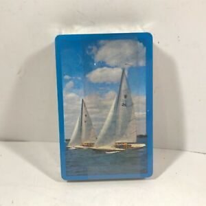 Vintage NOS HAMILTON Playing Cards Blue Sailing Boat Design