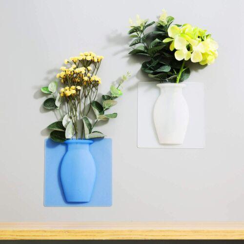 Magic Rubber Silicone Flower Vase Sticky Flower Vases Adhesive Wall Hanging Vase