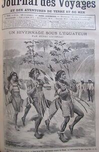 Zeitung-der-Voyages-Nr-751-von-1891-Explorer-in-Guyana-Femmes-der-Tonkin