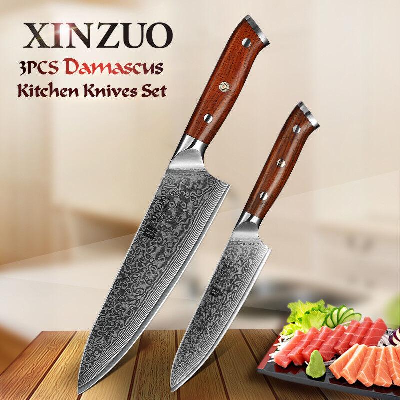 XINZUO 2pc kitchen knife setHigh carbon steel kitchen knife excellentChef knife