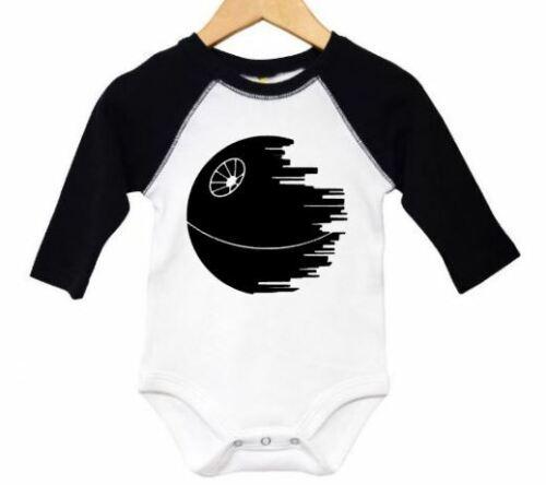 STAR WARS BABY Star Wars BODYSUIT Deathstar Raglan CREEPER DEATHSTAR Romper