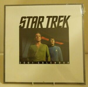 Star-Trek-The-Original-Series-Collectable-2001-Wall-Calendar-Sealed-Sci-Fi