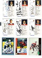 NHL/DEL Trading Cards---9 unterschriebene Cards der Berliner Preussen