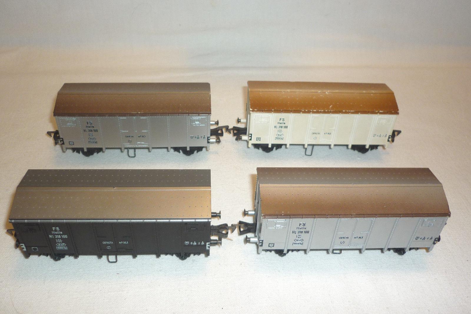 Fleischmann-Scale h0 - 4 Boxcar-see pictures - (6.ei-134)
