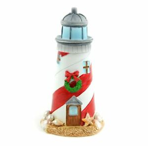 image is loading miniature dollhouse fairy garden christmas beach lighthouse mermaid - Christmas Lighthouse Decorations