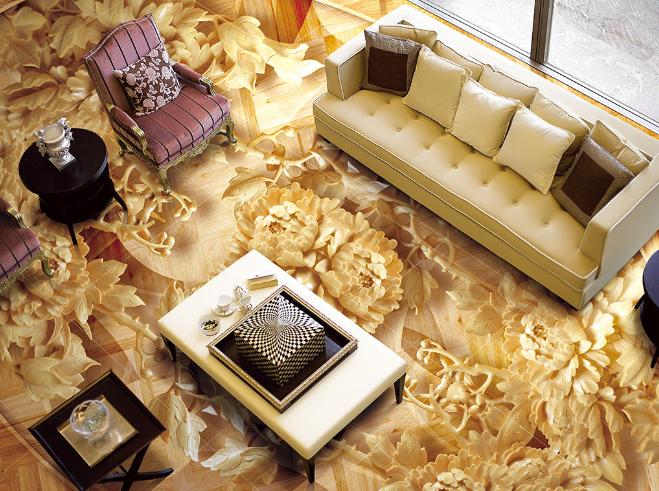 3D Gold Muster 601 Fototapeten Wandbild Fototapete Tapete Familie DE Lemon
