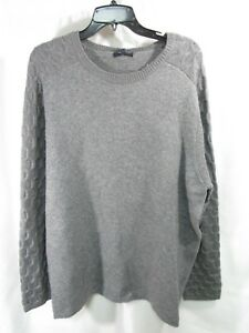 Men-039-s-Zachary-Prell-Wool-Blend-Crew-Neck-Sweater-Olvera-Charcoal-Size-XL